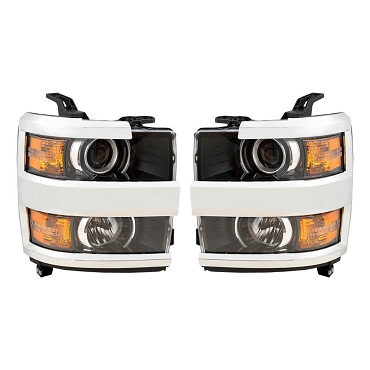 Chevrolet Silverado 2500 3500 HD 2015 2016 2017 2018 2019 pair left and right headlights